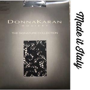 Donna Karan Hosiery Black Lace Open Weave Lovely